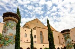 NAPOLI - Di Santa Chiara (Santa Chiara Museum Complex) di Chiostro Fotografie Stock