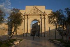 Napoli gates in Lecce, Italy Stock Photos