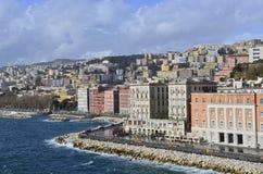 Napoli a gennaio dopo la pioggia. Fotografia Stock