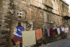 NAPOLI, ITALIË - JANUERY VIERDE, 2018: Mening van de Straat van Napels stock fotografie