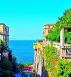 Napoli Italië van Sorrento stock afbeeldingen