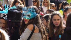 Napoli, Italia - 1° marzo 2019 Parata di carnevale video d archivio