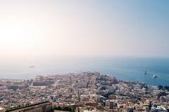 Napoli italian city aerial view Stock Photo