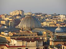 Napoli, Italy. Wonderful landscape on the city and its districts. During sunrise Royalty Free Stock Photos