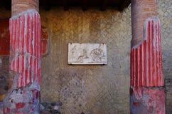 NAPOLI, l'IT - DICEMBRE 26,2016 - vista delle rovine di Ercolano Th fotografia stock libera da diritti