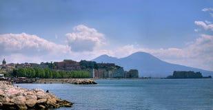 Napoli, la baia Immagini Stock Libere da Diritti