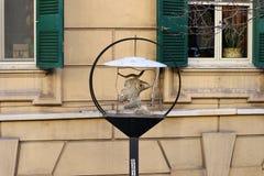 Napoli - Lampione artistico in Salita Cariati