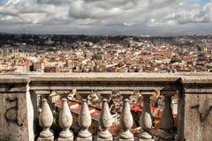 Napoli lanscape från helgonet Martino Royaltyfri Fotografi