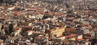 Napoli lanscape från helgonet Martino Fotografering för Bildbyråer