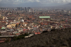 Napoli lanscape från helgonet Martino Royaltyfria Foton