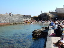 Napoli - Marina Gaiola fotografia stock