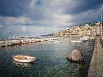 Napoli maritim port Royaltyfria Foton