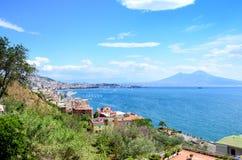 Napoli Naples et mont Vésuve, Italie, Campanie Photographie stock libre de droits