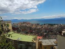 Napoli. Naples sole panorama mare royalty free stock images