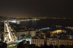 Napoli nello scuro Immagine Stock