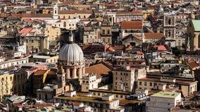 Napoli od above Zdjęcie Stock