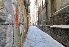 Free Napoli Old Italian Town Antique Architecture Narrow Street High Walls Streetscape Background Royalty Free Stock Photos - 193694528