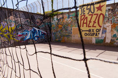 Napoli, ospedale psichiatrico giudiziario dei murales Fotografie Stock