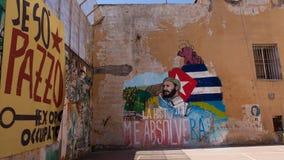 Napoli, ospedale psichiatrico giudiziario dei murales Immagini Stock Libere da Diritti