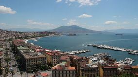 Napoli overview stock video footage