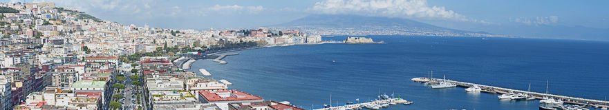 Napoli Panorama view Royalty Free Stock Photo