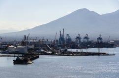 Napoli port at sunrise Royalty Free Stock Image