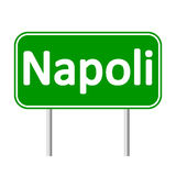 Napoli road sign. Royalty Free Stock Photo