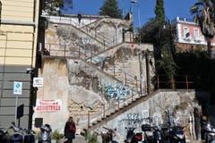 Napoli - Scale da via Pontano verso Corso Vittorio Emanuele