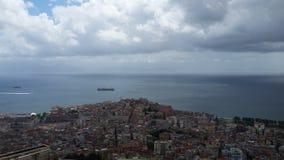 Napoli sjösida royaltyfria foton