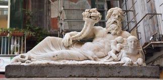 Napoli, statua del nilo Στοκ Εικόνες