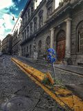 Napoli street. Architecture road old italy stock images
