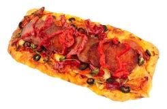 Napoli Style Pepperoni Pizza. Isolated on a white background royalty free stock photo