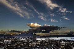 Napoli su gabbiano ООН Стоковая Фотография RF
