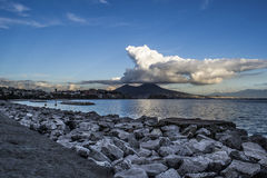 Napoli su gabbiano ООН Стоковое Изображение