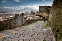 Napoli trappa av helgonet Martino Arkivfoton