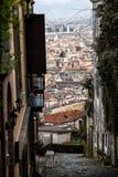 Napoli trappa av helgonet Martino Arkivbilder