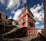 Napoli trappa av helgonet Martino Arkivfoto