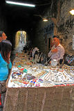 Napoli: a trinkets stall  at Spaccanapoli Royalty Free Stock Images