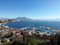 Napoli view, Costiera amlfitana, Sorrento. City view to the sea stock photo