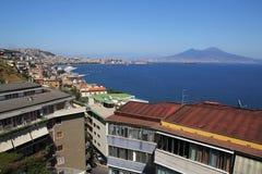 Napoli view on mount vesuvius Royalty Free Stock Photography