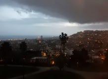 Napoli - vinterpanorama Royaltyfria Bilder