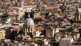 Napoli von oben Stockfoto