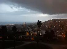 Napoli - Winter-Panorama Lizenzfreie Stockbilder