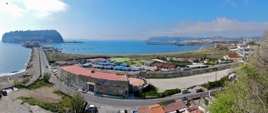 Napoli - zatoka Bagnoli Obrazy Royalty Free