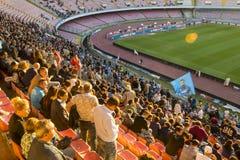 Napoli zwolennicy przy stadium San Paolo obraz royalty free