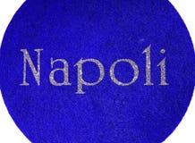 napolien som är skriftlig av en italiensk stad med, blänker stilsorten Royaltyfria Bilder