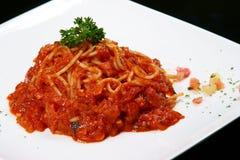 napolitana spaghetti obraz stock