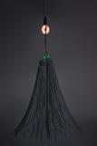 Nappa della spada di Tai Chi sui precedenti neri Immagini Stock