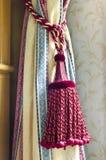 Nappa della tenda per la decorazione interna Immagini Stock