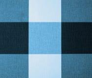 Nappe blanche, grise et bleue de guingan Image libre de droits